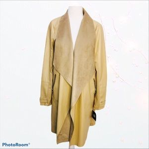 MARC NEW YORK VEGAN LEATHER DUSTER COAT M